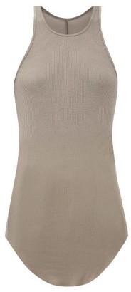 Rick Owens Racer-back Ribbed-knit T-shirt - Womens - Grey