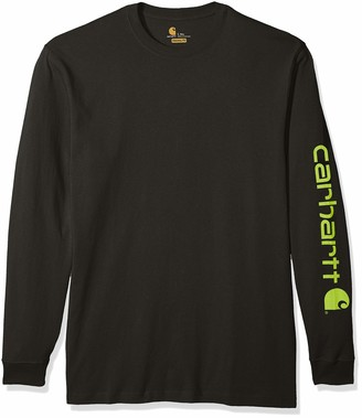 Carhartt Men's Big & Tall Signature Sleeve Logo Long Sleeve Shirt