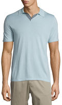 Vince Wool-Blend Short-Sleeve Polo Shirt