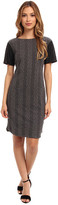 Donna Morgan Cable Knit T-Body Dress with Side Seam Zippers
