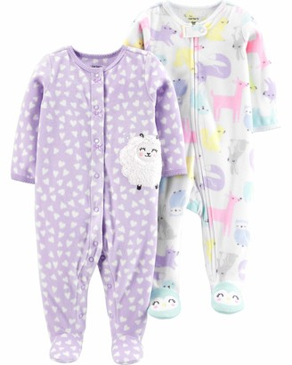Carter's Baby Girls 2-Pack Fleece Footed Sleep and Play