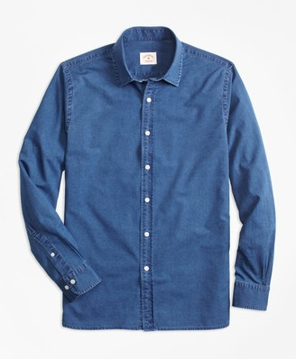 Brooks Brothers Indigo-Dyed Cotton Chambray Sport Shirt