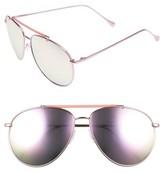 A. J. Morgan Women's A.j. Morgan Skyward 61Mm Aviator Sunglasses - Pink/ Mirror