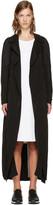 McQ by Alexander McQueen Black Transparent Long Coat