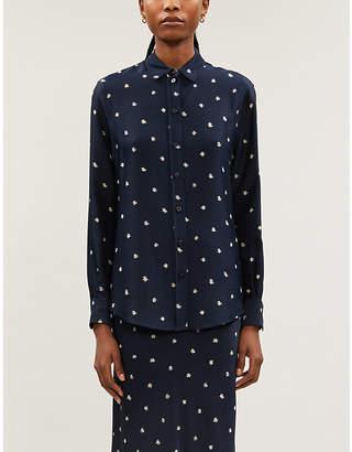 Joseph New garcon scribble spot blouse