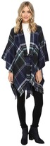Echo Reversible Plaid Cape