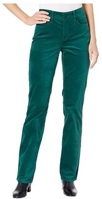 NYDJ Marilyn Straight Velvet Jeans in Mountain Pine (Mountain Pine) Women's Jeans