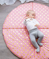 Coral & Gold Poka Dot Play Mat