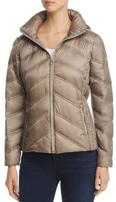 MICHAEL Michael Kors Chevron Packable Short Down Coat