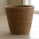 Crate & Barrel Sedona Honey Tapered Waste Basket/Trash Can