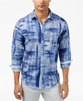INC International Concepts Men's Holcomb Paint Brushed Shirt, Only at Macy's