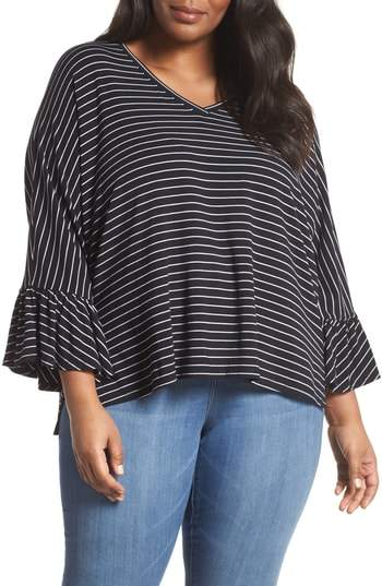 Sejour Ruffle Sleeve Knit Top