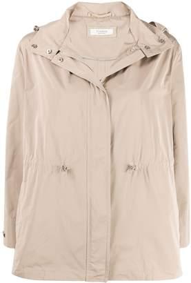 Peserico hooded zip-up jacket