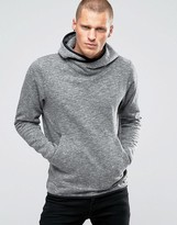 Jack and Jones Hooded Sweat with Cross Over Neck Detail