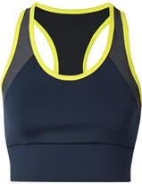 Heroine Sport - Tread Paneled Stretch Sports Bra - Midnight blue