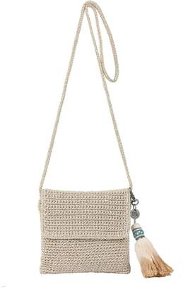 The Sak Costa Mesa Mini Flap Crocheted Crossbody Handbag