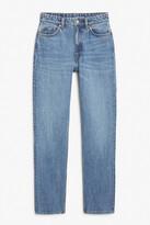 Thumbnail for your product : Monki Moluna mid blue jeans