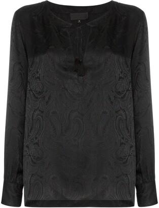 Nili Lotan Lucena paisley-print silk blouse
