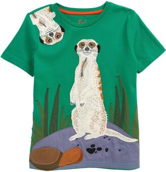 Boden Kids' Animal Applique Short Sleeve T-Shirt