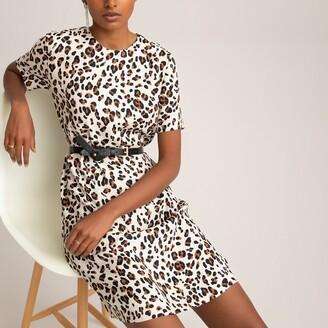 La Redoute Collections Leopard Print Shift Dress