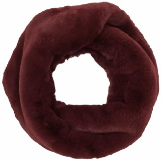 UK Dispatch Super Soft Snood Fine Faux Fur Scarf Twist Gift Girls Womens Red