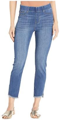 Liverpool Chloe Pull-On Crop Skinny Angled Slit in Stillwell (Stillwell) Women's Jeans