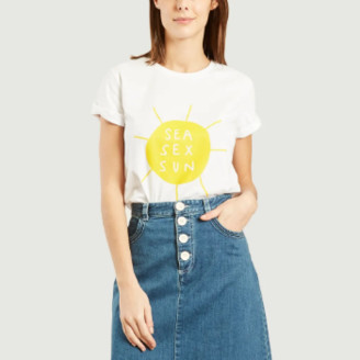 Elise Chalmin - White Cotton Sea Sex Sun T Shirt - cotton | white | xs - White/White