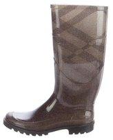 Burberry Rubber Nova Mid-Calf Boots