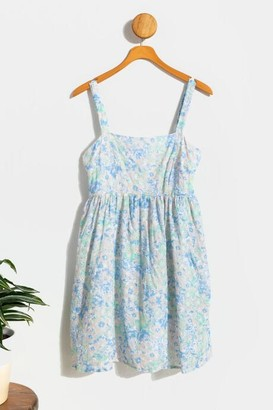 francesca's Faegan Floral Eyelet Dress - Lavender
