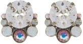Sorrelli Multi-Cut Round Crystal Cluster Stud Earrings