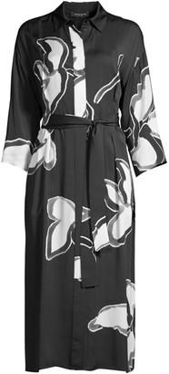 Lafayette 148 New York Rhodes Floral Midi Shirtdress