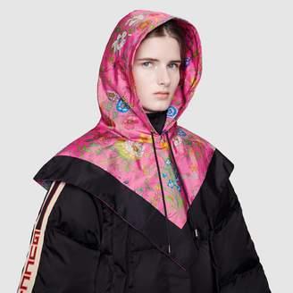 Gucci Nylon hood with Flora print