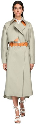 Sportmax Belted Cotton Coat