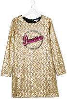 Little Marc Jacobs Paradise long-sleeved dress - kids - Polyester/Sequin - 14 yrs
