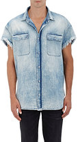 R 13 Men's Denim Cutoff Shirt