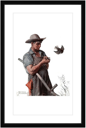 """Rockwell Marmont Hill Inc. """"Farmer and the Bird"""" Framed Art Print by Norman"""