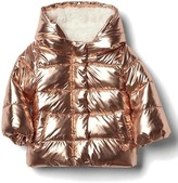 Gap Cozy rose gold puffer