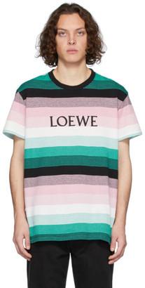 Loewe Multicolor Stripe Logo T-Shirt