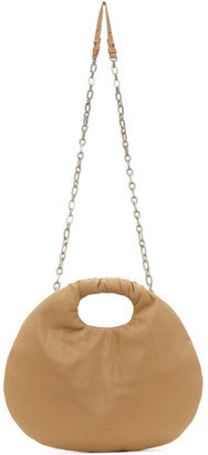 Low Classic Beige Faux-Leather Egg Bag