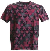 Valentino Red And Black Camoustars Cotton T-shirt