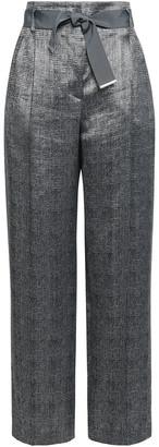 Giorgio Armani Belted Jacquard Wide-leg Pants