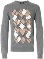 Z Zegna geometric print jumper