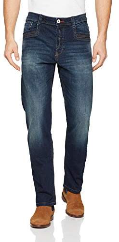 Tom Tailor Men's Trad Visible Buttonfly Straight Jeans,W30/L32 (Manufacturer Size: 30)