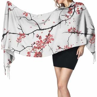 Yinyinyin. Cashmere Scarf Womens Large Scarf Japanese Sakura Soft Cashmere Feel Pashmina Shawls Wraps