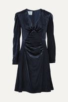 Prada Ruched Velvet Dress - Midnight blue