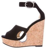 Jimmy Choo Suede Wedge Sandals