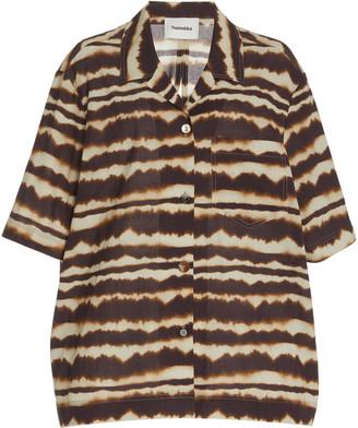 Nanushka Soho Cotton-Crepe Gauze Camp Shirt