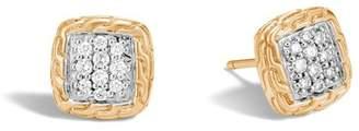 John Hardy Classic Chain Stud Earring With Diamonds
