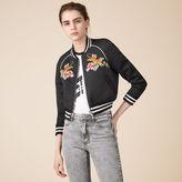 Maje Embroidered bomber jacket