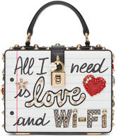 Dolce & Gabbana Multicolor East-west all I Need Is Love And Wifi Box Bag